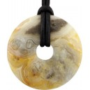 PENDENTIF DONUTS 30MM AGATE CRAZY LACE