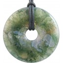 PENDENTIF DONUTS 40MM AGATE MOUSSE